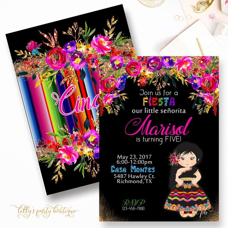 best 25+ fiesta invitations ideas on pinterest | fiesta theme, Birthday invitations