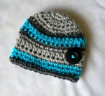Baby Boy Hat Splashed Winter Turquoise Hip Newborn Hats  Bets Infant Ready to ship on Etsy, $24.50