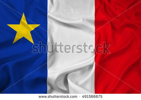 Waving Flag of Acadia, Canada