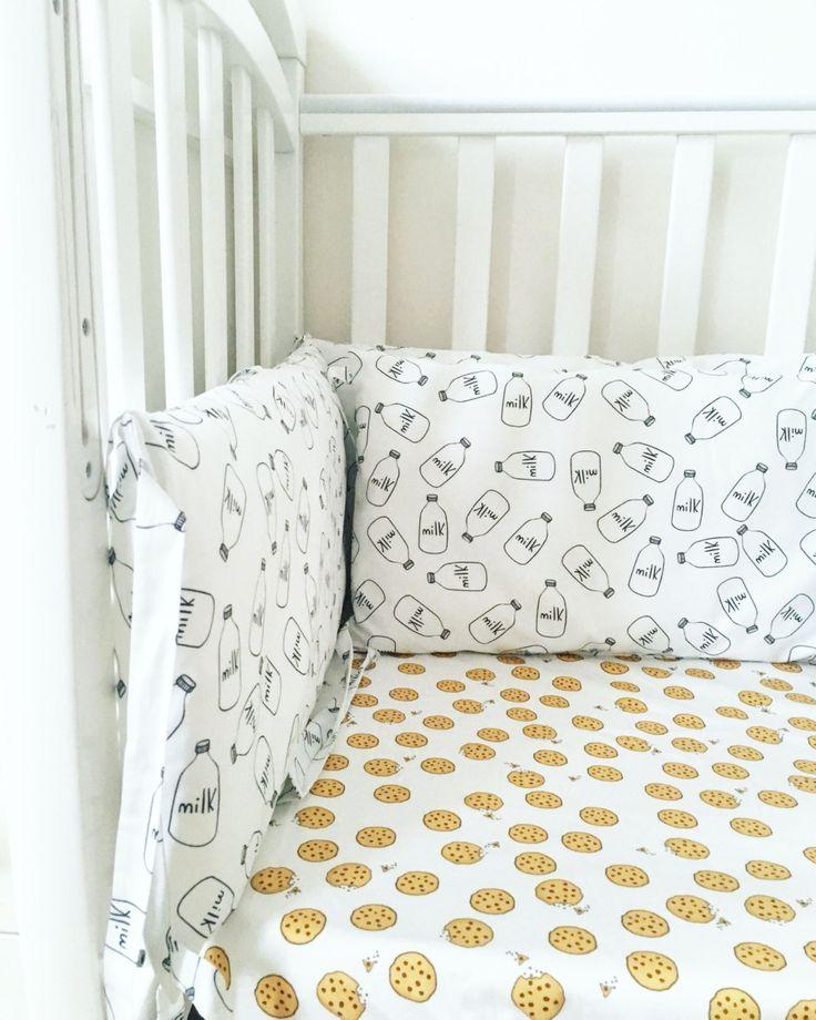 Crib Bumpers   Milk And Cookies Bumpers   Baby Bedding Bumper   Unique  Print Bedding