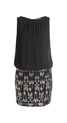 Feines Kleid mit Pailletten-Rock