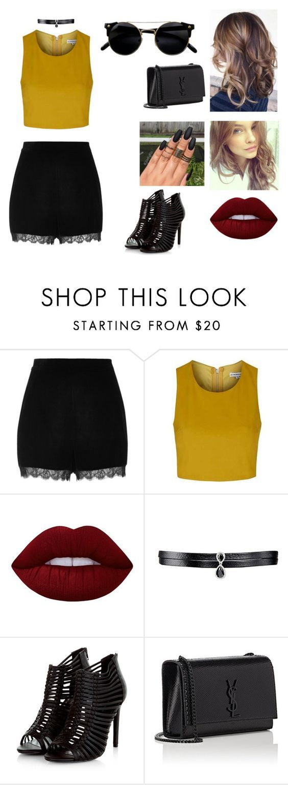 """ALAYLM"" by julia-poldervaart ❤ liked on Polyvore featuring River Island, Topshop, Lime Crime, Fallon, Justin Bieber and Yves Saint Laurent"