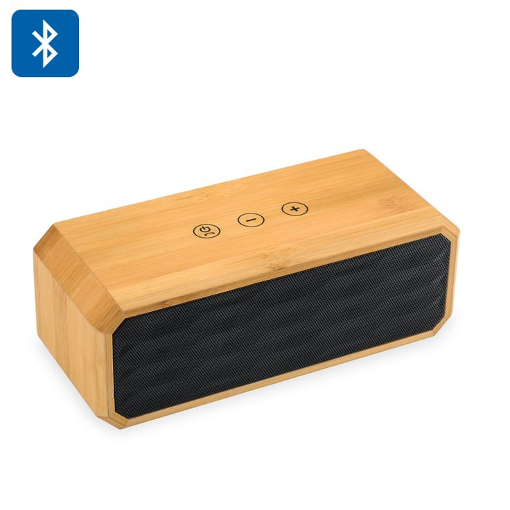 10W Bamboo Wireless Stereo Speaker - Bluetooth 4.0 NFC Support Hands Free Calls