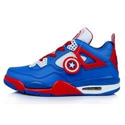 Nike Air Jordan 4 Captain American Custom for Sale - Men Air Jordan 4