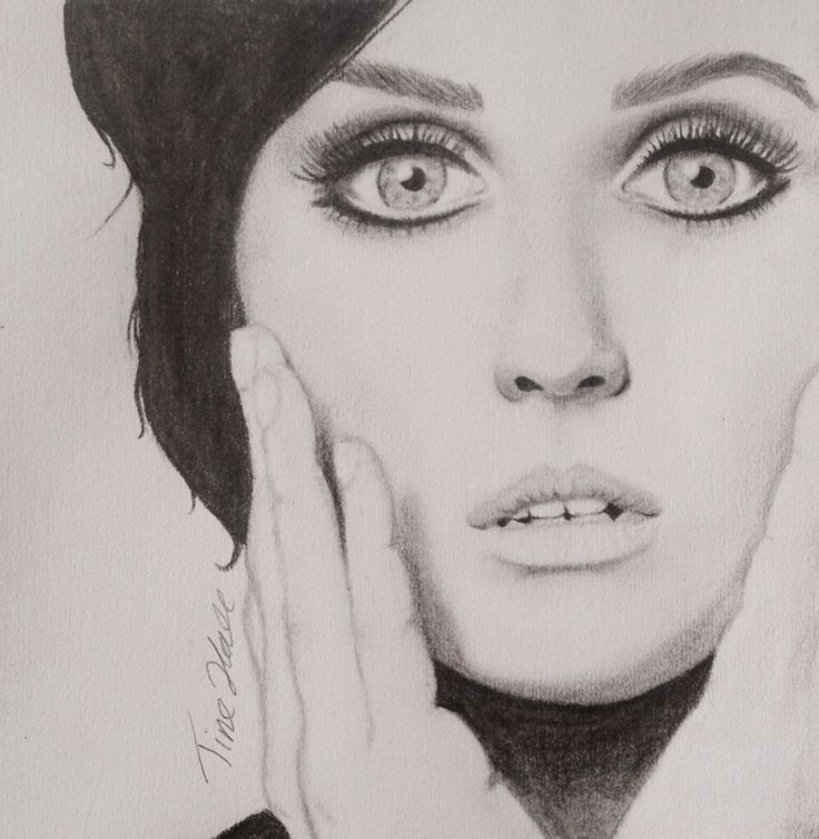 Katy perry portrait, art by Hall