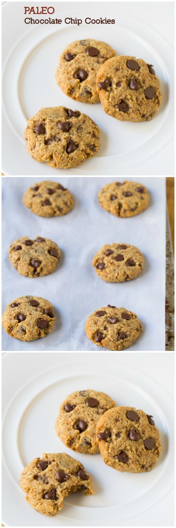 Easy and DIVINE Paleo Chocolate Chip Cookies. Now you can stay on your diet and still have your favorite cookie, guilt-free! Paleo Chocolate Chip Cookies