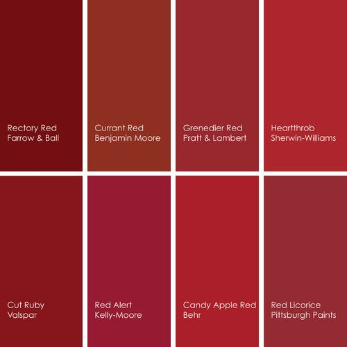 Red Paint Picks Design Inspiration Red Paint Colors