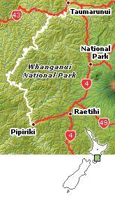 Although classified as one of the Great Walks, the Whanganui Journey is down a river in the National Park in New Zealand's North Island. A river trip in a kayak.  North Island 5 days 145 km  Peak Season is October to April - Pass required