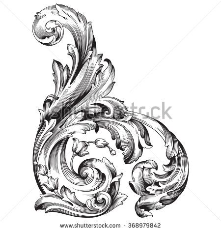 159 best a shabby transfer swirls images on Pinterest Baroque - baroque scroll designs
