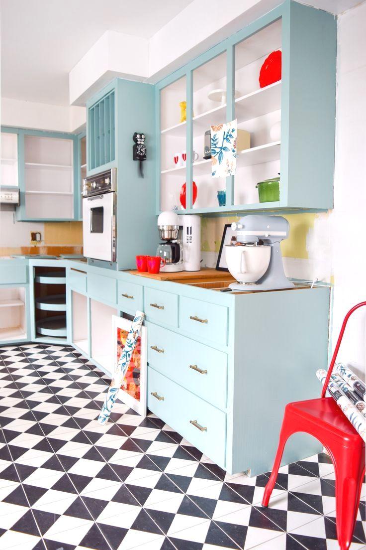 9+ Easy Kitchen Design On A budget 9 in 9   Retro kitchen ...