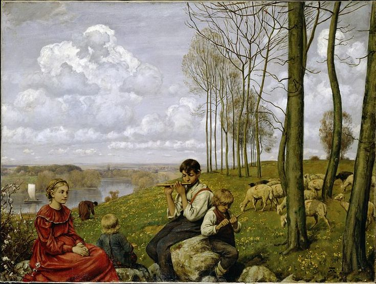 Awesome Hans Thoma Spring oil on canvas Dimensions