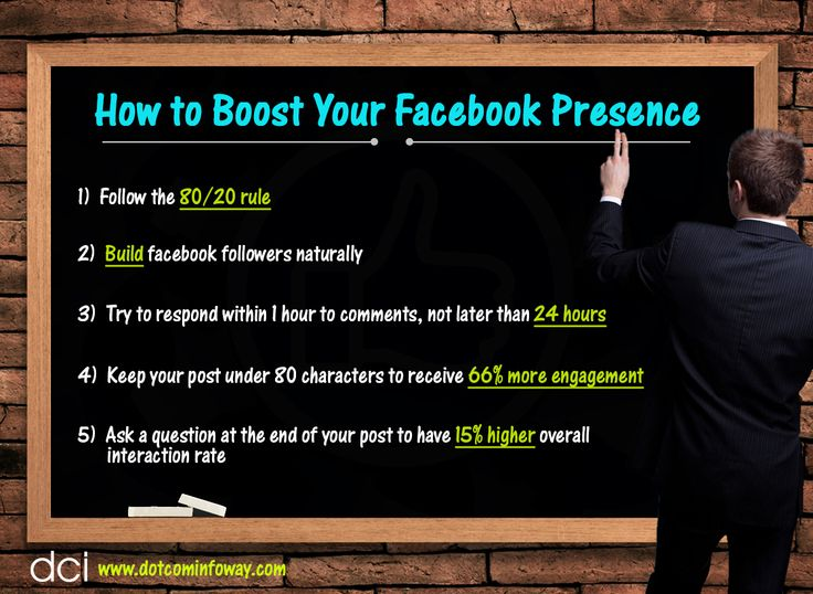 Here are a few tips for how to build your Facebook presence!