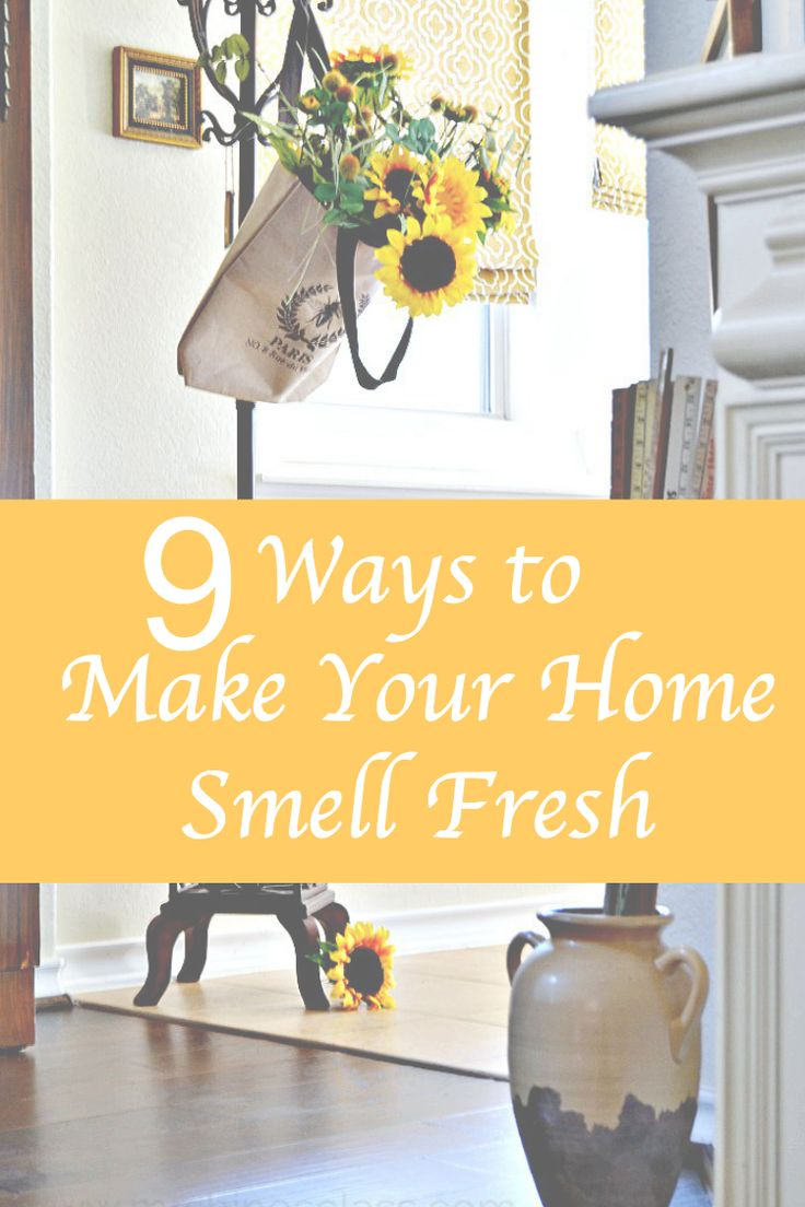 Company coming? Try these 9 Ways to Make Your Home Smell Fresh for their arrival. www.mrshinesclass.com