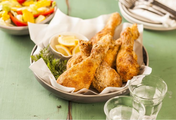 Bite into some Southern style chicken, which has been baked instead of fried to cut back on fat.