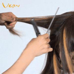 ✂️Geschichtete Frisuren zeigen trendigere Highlights. Frisuren mit geometrischen Pony. Personalisiert mit Funktionen. Wispy Short Bob & Weich und Schön ...