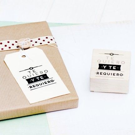 "Sello ""Te quiero y te requiero"". A la venta en: www.mrwonderfulshop.es: I Love You, Screen, Te Requiero, Pantalla 2013 06 20, Cosa Rebonita, Wonder Stamps, Packaging Regalo, Nuevo Sello, The Store"
