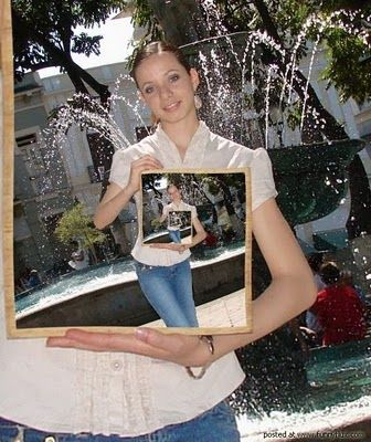 A Picture within Picture Illusion | illusion+picture+in+a+picture.jpgFunny Image, Optical Illusions, Funny Pics, Funny Pictures, Girls Photography, Mindfulness Blown, Funny Quotes, Funny Photos, Funny Animal