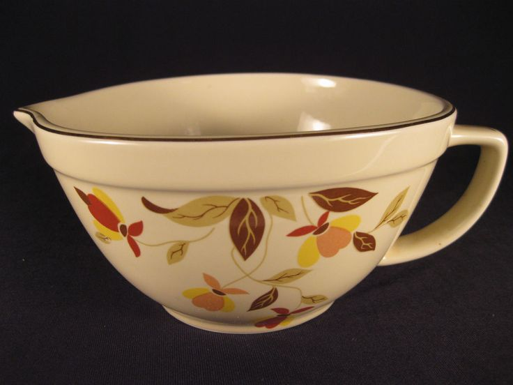 China Specialties Hall Autumn Leaf Jewel Tea Batter bowl 1996 Limited Edition