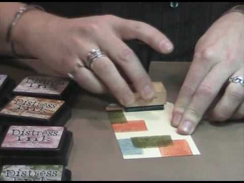 Tim Holtz Demos Distress Ink Color Blocking Technique - YouTube