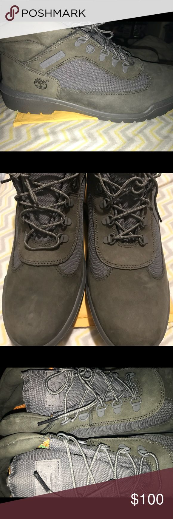Men's Timberland Field Boots- Size 14 Men's Timberland Field boots. Gray colored. Brand new, never worn. Size 14M men's. Timberland Shoes Boots