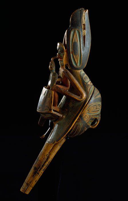 PEM | Native American Art « Collections : Raven Rattle : Northwest Coast