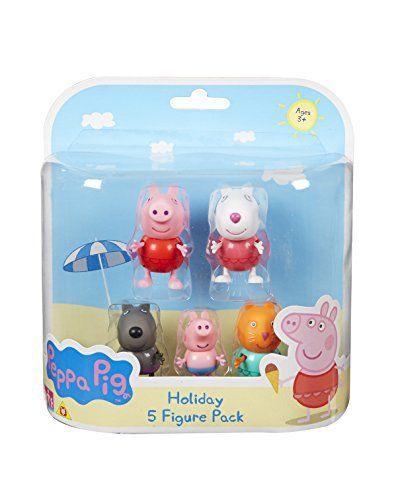 Peppa Pig – Peppa et ses Amis à la Plage – 5 Figurines: Retrouve Peppa et ses amis pour de nouvelles aventures grâce à aux figurines de…