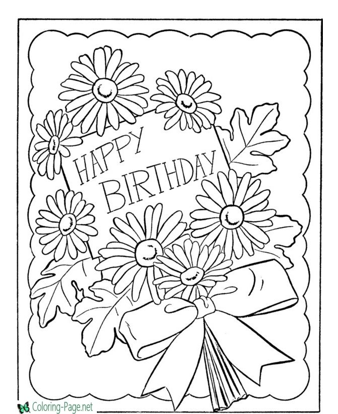 Birthday Coloring Pages Happy Birthday Coloring Pages Coloring Birthday Cards Birthday Coloring Pages