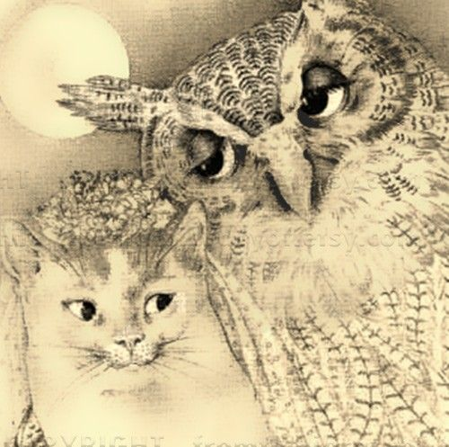 35 best the owl and the pussycat images on pinterest owls owl and the owl and the pussycat went to sea in a beautiful pea green boat fandeluxe Choice Image