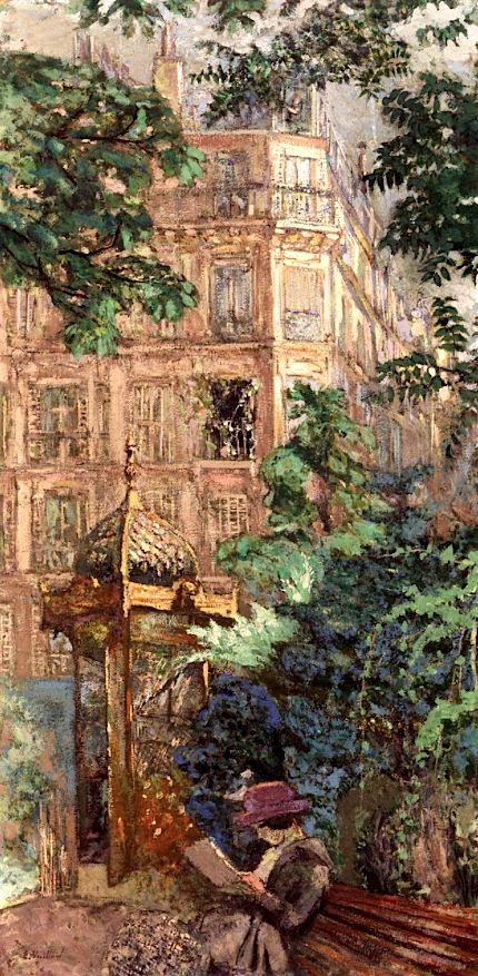 The Kiosk (Place Vintimille) / Edouard Vuillard - 1917-1918