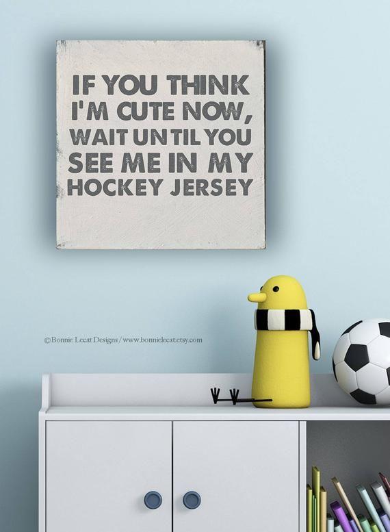 Hockey Sign Gift For Hockey Fan Sports Nursery Baby Boy Etsy Sports Nursery Hockey Nursery Baby Boy Gifts