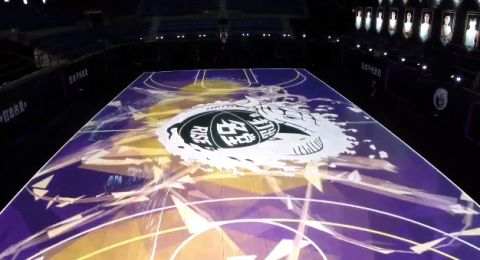 """Kobe Bryant was impressed when Nike unveiled their new RISE """"House of Mamba"""" LED court — the first of its kind — during a promotional stop in China."""