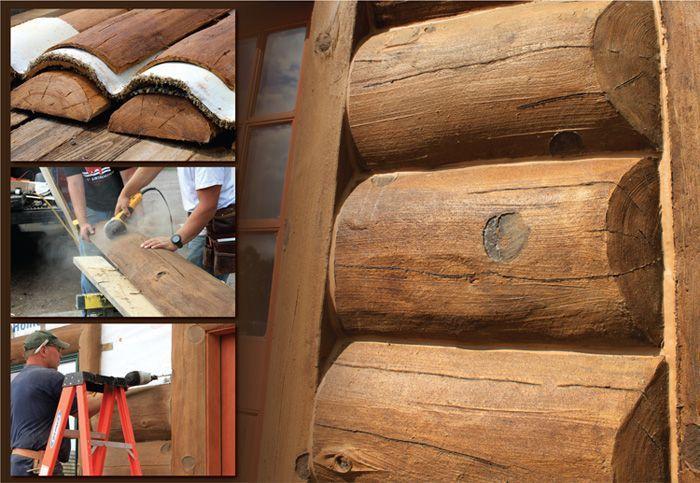 Glass Fiber Reinforced Concrete Log Siding Homestead