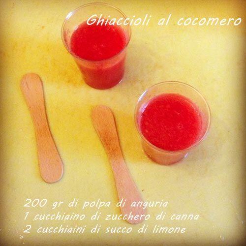 Ghiaccioli al cocomero - Homemade watermelon popsicles
