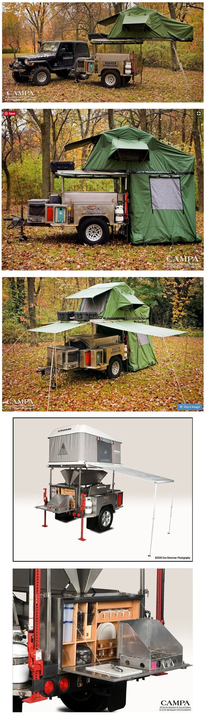 The Ultimate All Terrain Camp Trailer (VERY cool!)