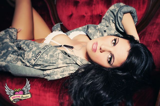 Boudoir & Pinup for Military// Army Boudoir Photography by LINDSAY PULLEN design, via Flickr