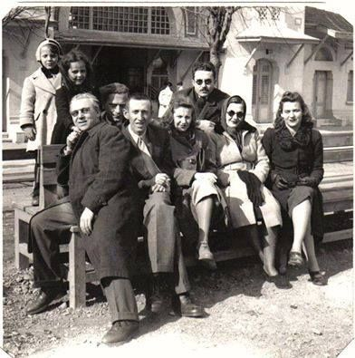 Bedri Rahmi Eyüboğlu,Abidin Dino,Güzin Dino, Rozsi ve Bela Szabo ve oğulları Matika, Sabahattin Ali,Orhan Veli,1943