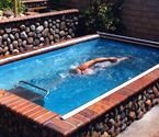 Original Endless Pools Swimming Machine. This would be fun to have at home. Small enough that you could have indoors or out, still fun for the whole family. Maybe someday!