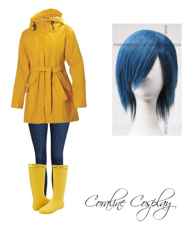 """""""Coraline Cosplay"""" by abbimp on Polyvore featuring Topshop, Helly Hansen and Kamik"""