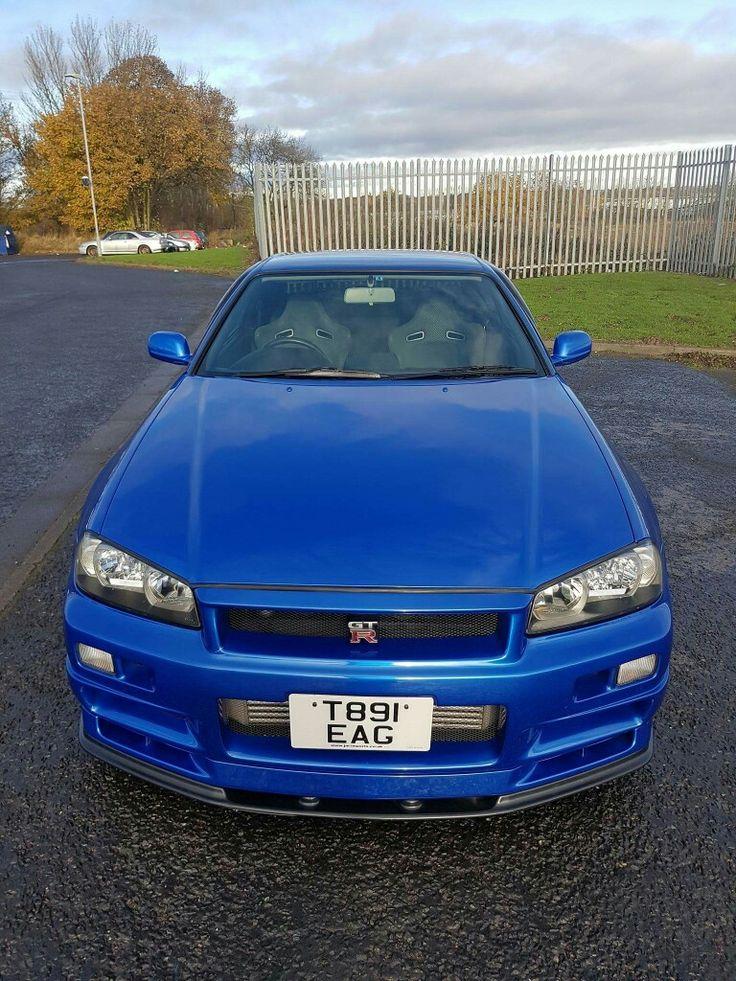 Blue Nissan R34