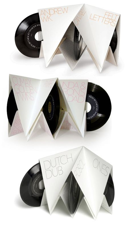 Nice 3 vinyl packaging. Folded paper.