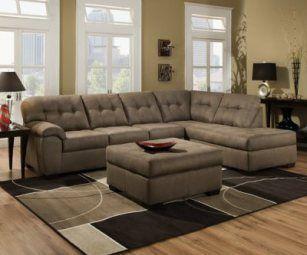 Simmons 9558 Velocity Shitake Sectional Sofa Sets