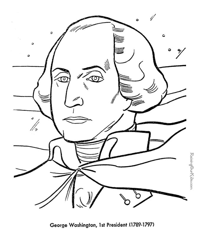Presidents day presidents america unit pinterest for George washington coloring pages