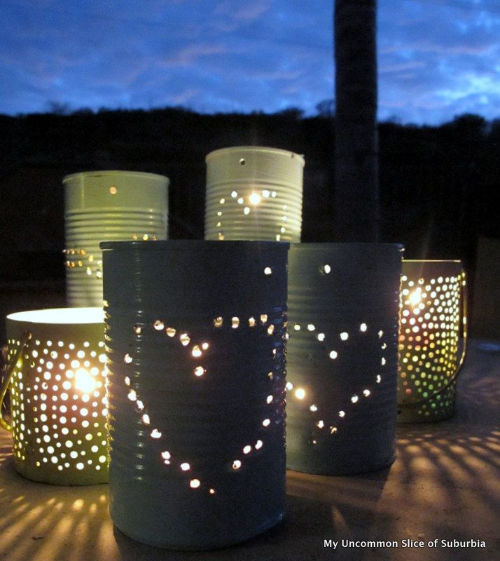 DIY Tin Can Lanterns Tutorial -Momo