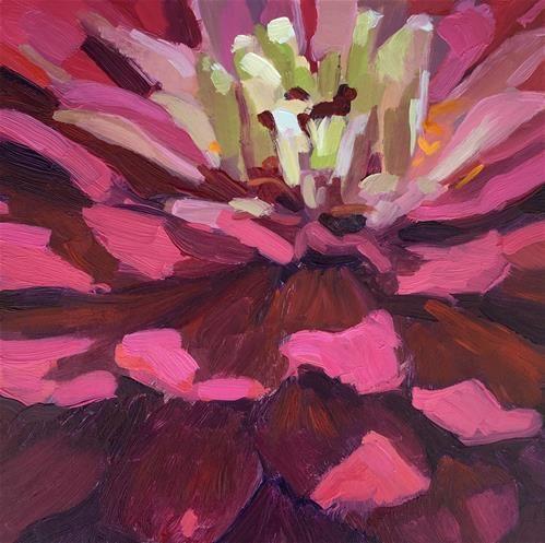 "Daily Paintworks - ""The Fun Flower"" - Original Fine Art for Sale - © Kaethe Bealer"