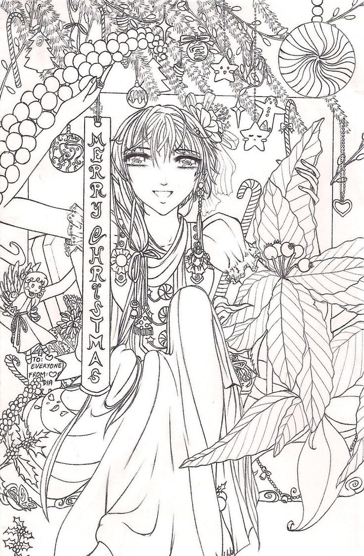 anime adult coloring pages - 2417 best coloring pages images on pinterest christmas