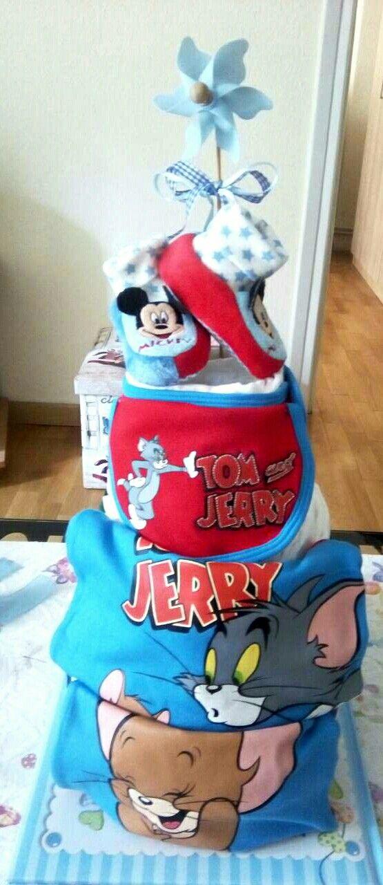 Diaper cake for a boy tom&jerry