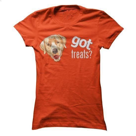 Got Treats Heads - Yellow Lab - #shirt maker #t shirt design website. I WANT THIS => https://www.sunfrog.com/Pets/Got-Treats-Heads--Yellow-Lab-Orange-0e5z-Ladies.html?id=60505