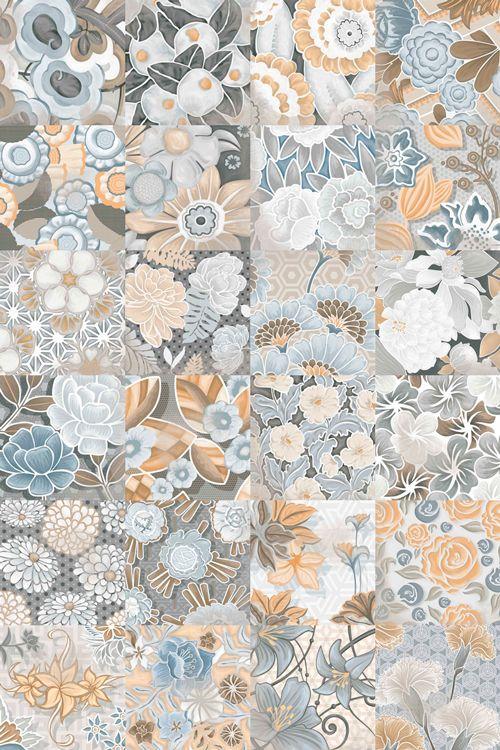 VODEVIL: Flore Gris - 20x20cm. | Pavimento - Porcelánico | VIVES Azulejos y Gres S.A. #tile #floor #design