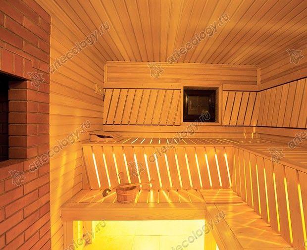 Внутри сауны - Inside the sauna