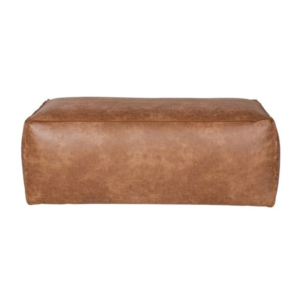 199   BePureHome Rodeo Hocker - Cognac